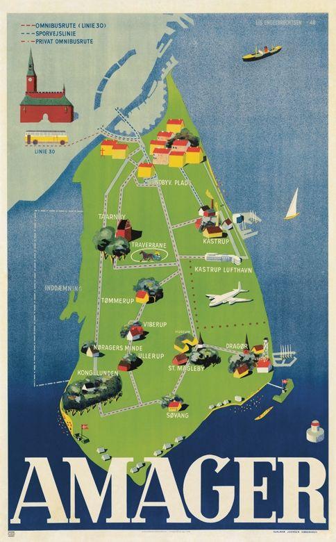 Amager vintage poster